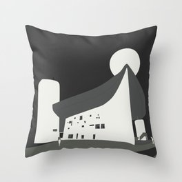 Le Corbusier - Chapelle Notre-Dame du Haut de Ronchamp Throw Pillow