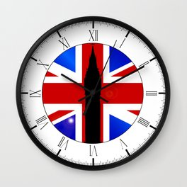 Union Jack Button Wall Clock