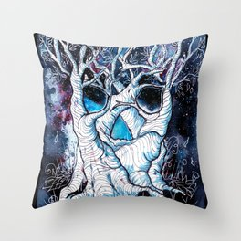 Galaxy Skulltrees. Throw Pillow