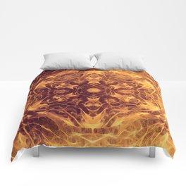 Abstract earth tone mandala Comforters
