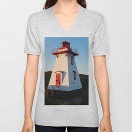 Lighthouse in the Dunes Unisex V-Neck