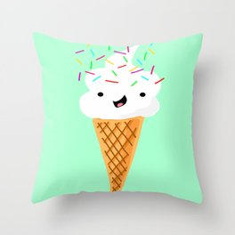 Happiness Is Sprinkles On Your Ice Cream Throw Pillow