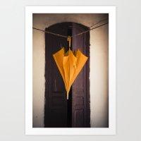 umbrella Art Prints featuring Umbrella by Maria Heyens