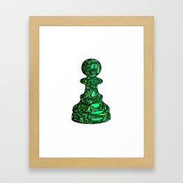 Green Pawn Framed Art Print