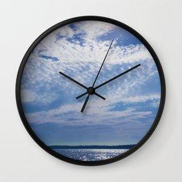Oceans Above Wall Clock