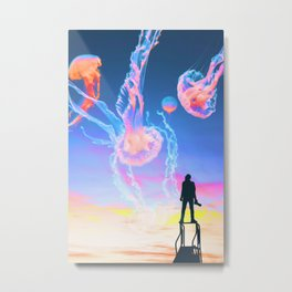 Jelly Clouds Assemblage Metal Print