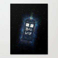 Bad Wolf TARDIS Canvas Print