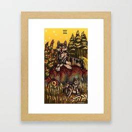 Wolf Tarot: Empress Framed Art Print