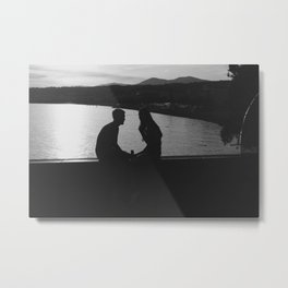 The Lovers in Nice Black and White Photography Metal Print