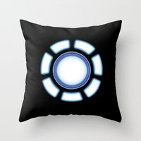 iron man Throw Pillows featuring IRON MAN by eARTh