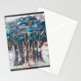 Faded Semi-Abstract Trees Stationery Cards