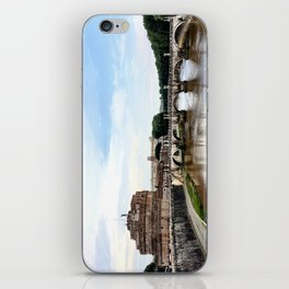 Castel St'Angelo Across the Tiber River - Rome, Italy iPhone Skin