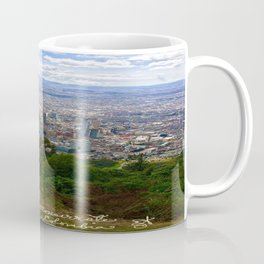 Mount Monserrate, with a 10,000 ft view of Bogota Colombia Coffee Mug