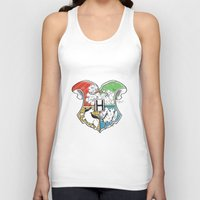hogwarts Tank Tops featuring Hogwarts Houses by Vagalumie