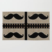 moustache Area & Throw Rugs featuring Moustache by Mr and Mrs Quirynen
