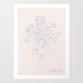 Explosion de tulipes Art Print