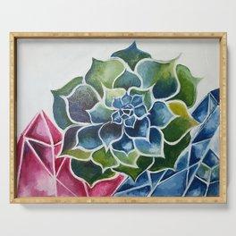 Succulents & Crystals Serving Tray