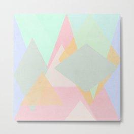 spring pastel abstract pattern design Metal Print