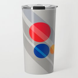 Abstract Suprematism Equilibrium Art Red Blue Yellow Travel Mug