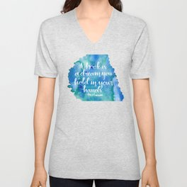 A Book is a Dream Unisex V-Neck