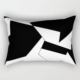 crazy clock-psychedelic,broken window,relativy,fun,black,white,red,crack,irregular,original,geometry Rectangular Pillow