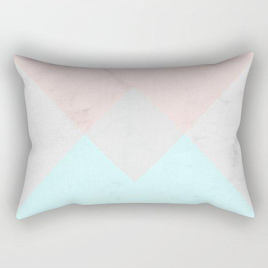 Geometric Marble Rectangular Pillow