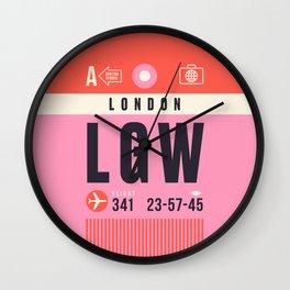 Baggage Tag A - LGW London Gatwick England UK Wall Clock
