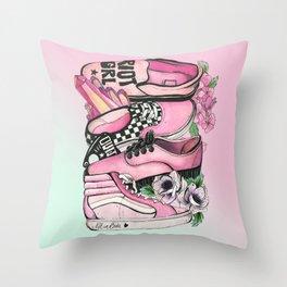 Pink Gang Throw Pillow