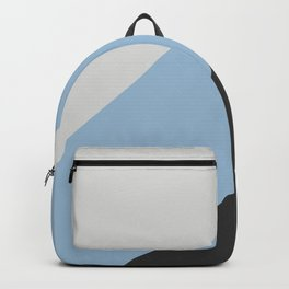 Pastel Blue Grey and Black Diagonal Stripe Pattern 2021 Color of the Year Earth's Harmony & Accents Backpack
