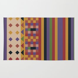 Stripes and squares ethnic pattern Rug