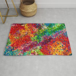 Color Theory Clash Rug