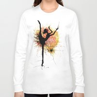 dancer Long Sleeve T-shirts featuring dancer by liva cabule