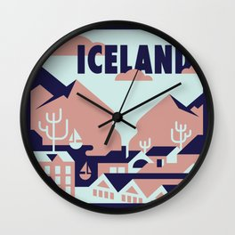 Vagabond Heart Iceland Wall Clock