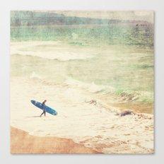 Margin Walker. surfer photograph Hermosa Beach Canvas Print