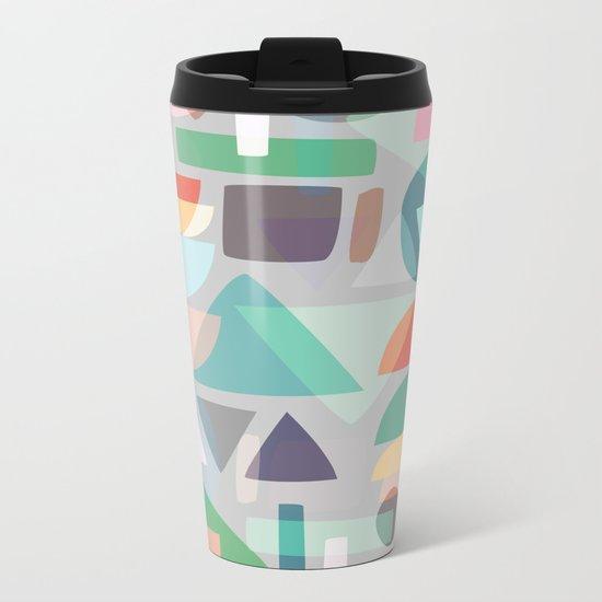 Pastel Geometry 2 Metal Travel Mug