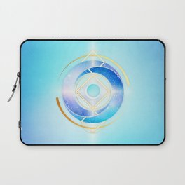 Icy Golden Winter Swirl :: Floating Geometry Laptop Sleeve