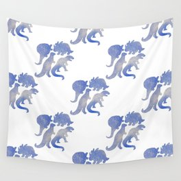 dino blue pat. Wall Tapestry