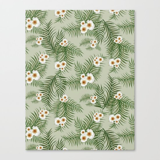 Vintage Jungle Pattern #society6 #decor #buyart Canvas Print