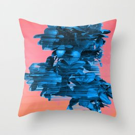 Velocious Blue Little Tree Throw Pillow