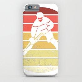 Hockey Players Hockey Field Ice Goalie Vintage iPhone Case