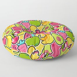 Happy Fruits seamless pattern Floor Pillow