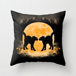 Black Cats Paradise Throw Pillow