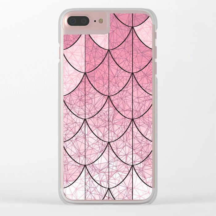Mermaid scales. Abstract. Clear iPhone Case
