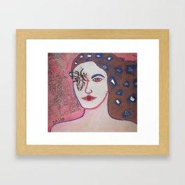 cara de mosca Framed Art Print