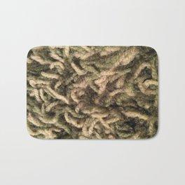 Green shag Bath Mat