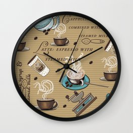 Coffee Lover Expresso Mocha style Wall Clock