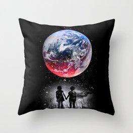 Beautiful Earth Throw Pillow