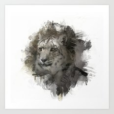 Expressions Snow Leopard 2 Art Print