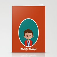 mcfly Stationery Cards featuring Marty McFly by Juliana Motzko