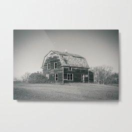 Barn House, Wells County, North Dakota 10 Metal Print